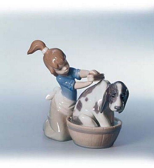 Lladro Figurines Bashful Bather