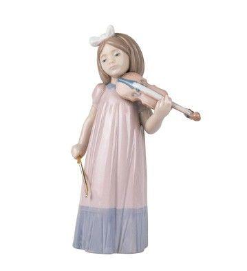 Nao Figurines Girl With Violin