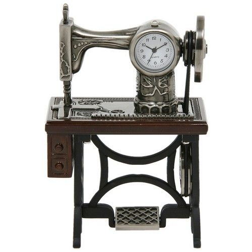 Miniature Clock - Old Sewing Machine