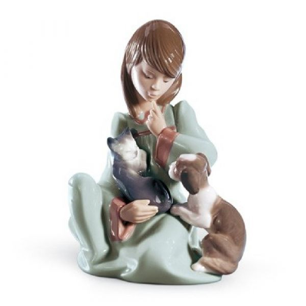 Lladro Figurines Cat Nap