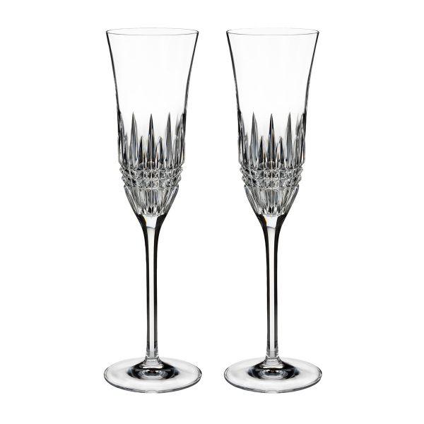 Waterford Crystal Lismore Diamond Essence Flutes (Pair)
