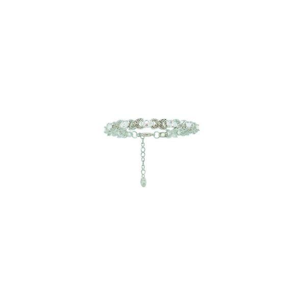 Tipperary Crystal Silver Bracelet X&O