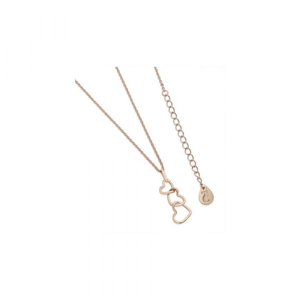 Tipperary Triple Heart Drop Pendant Rose Gold