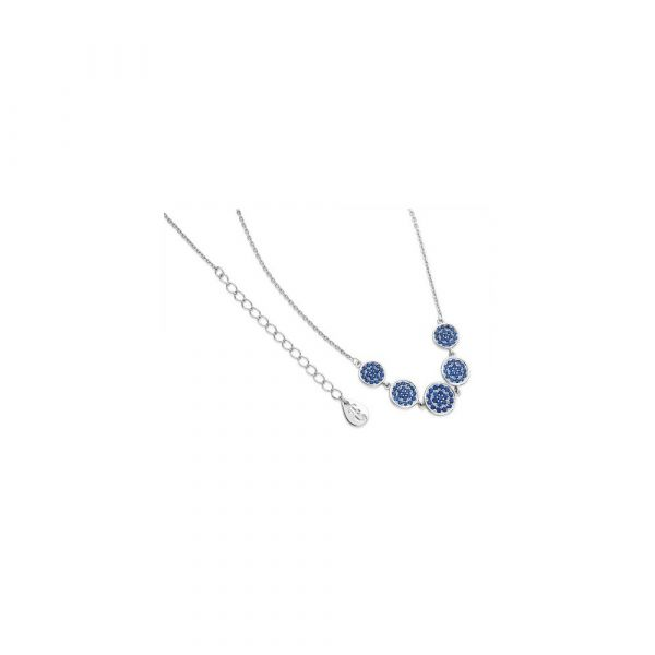 Tipperary Blue Orbiting Moon Pendant Silver