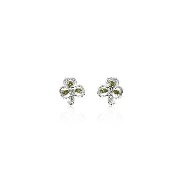 Tipperary Maureen O'Hara Silver Shamrock Earrings