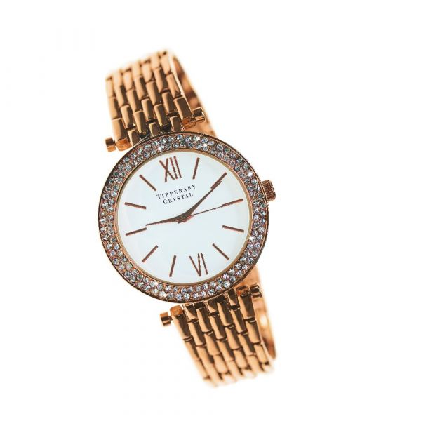 Tipperary Crystal Tempo Watch (Rose Gold)