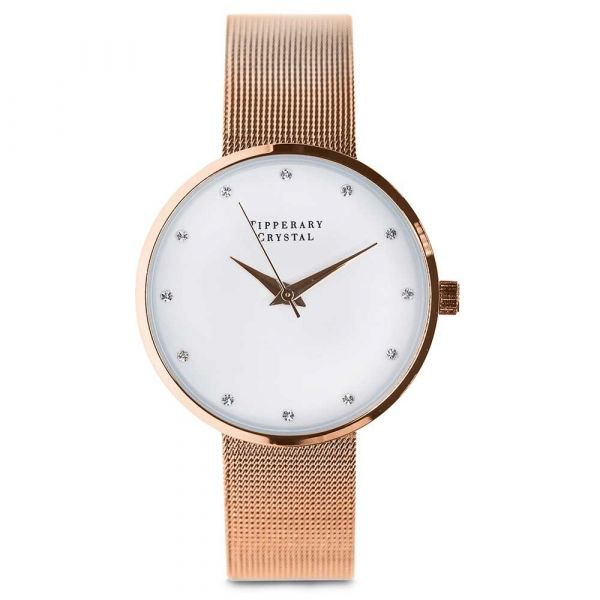 Tipperary Crystal Ultimito Rose Gold Watch