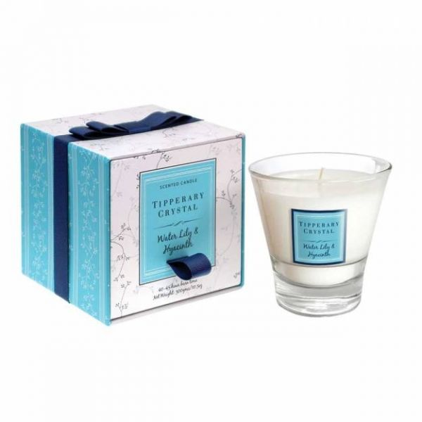 Tipperary Crystal Waterlily & Hyacinth Fragrance Candle