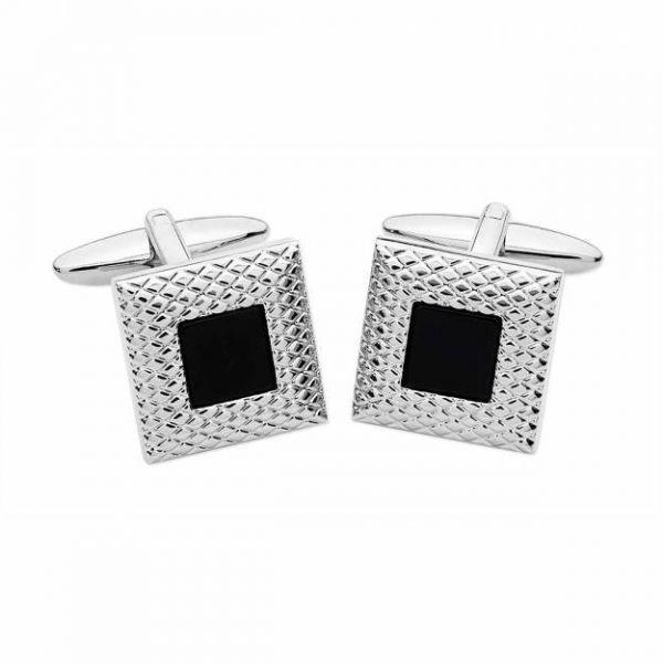 Square Onyx Stone Cufflinks Set