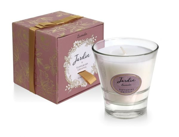Tipperary Crystal Jardin Collection Lavender Candle