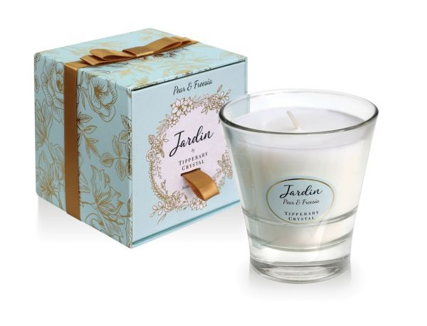 Tipperary Crystal Jardin Collection Pear & Freesia Candle