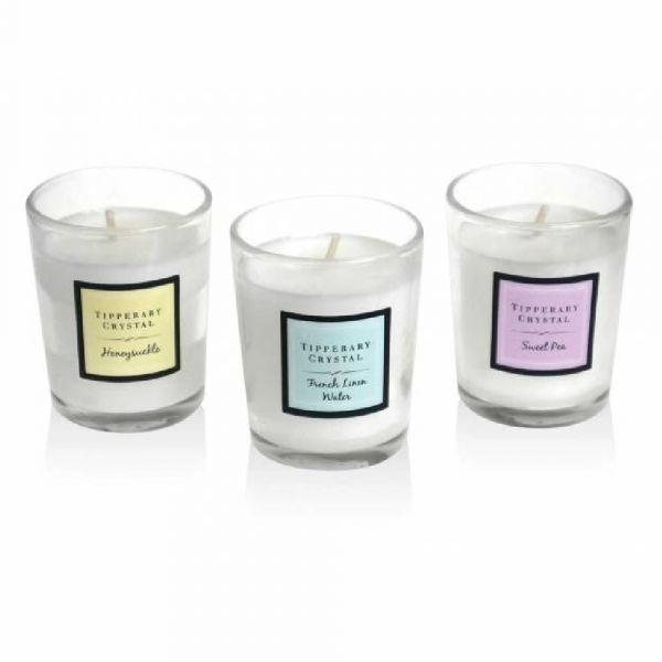 Tipperary Crystal Set of 3 Mini Scented Candles