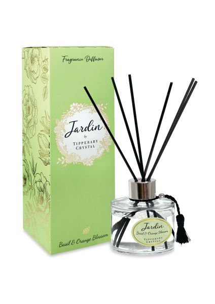 Tipperary Crystal Jardin Collection Basil & Orange Diffuser