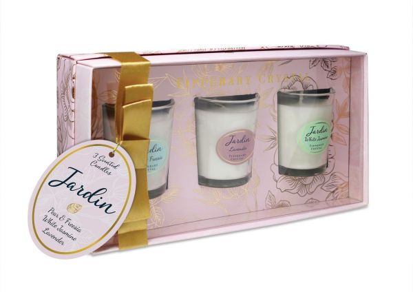 Tipperary Crystal Jardin Collection Assorted Mini Candles (Set of 3)