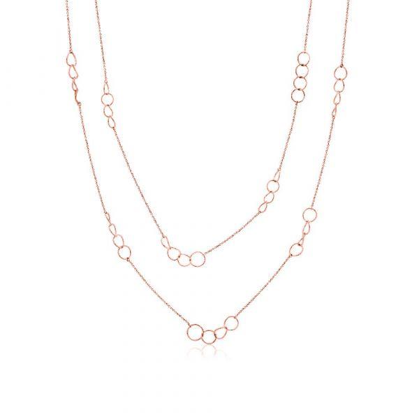 Romi Rose Gold Circle Necklace