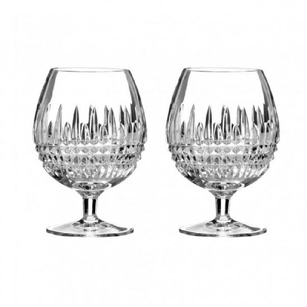 Waterford Crystal Lismore Diamond Set of 2 Brandy Glasses