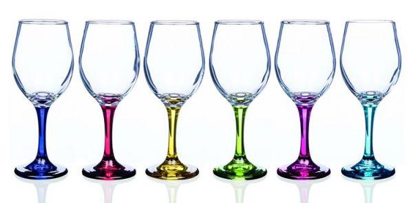 Newgrange Living - Rainbow Party Wine Glasses (Set of 6)