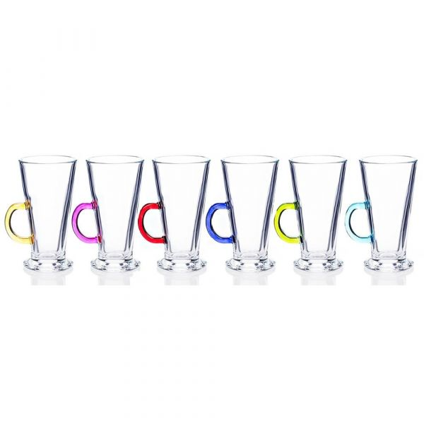 Newgrange Living - Rainbow Party Latte Glasses (Set of 6)