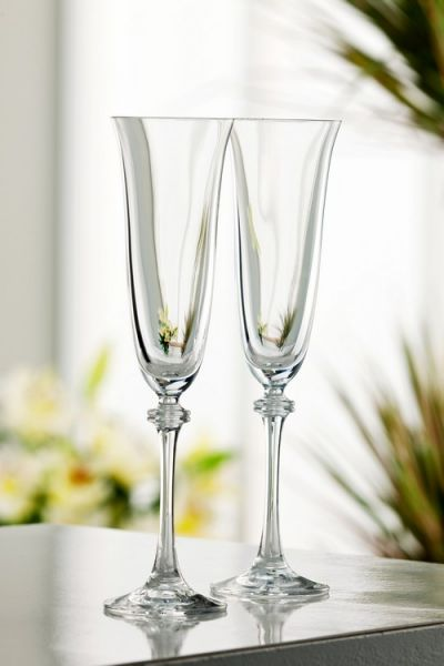 Galway Crystal Pair Flutes