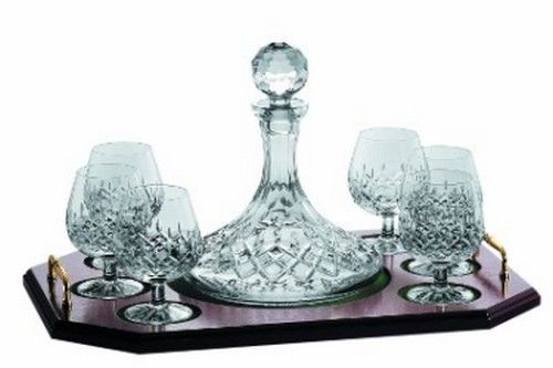 Galway Crystal Brandy Decanter & Tray Set