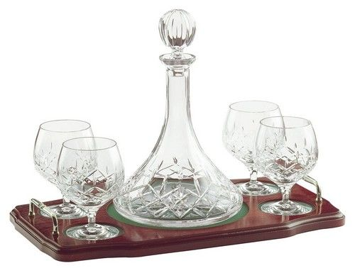 Galway Crystal Brandy Decanter Set