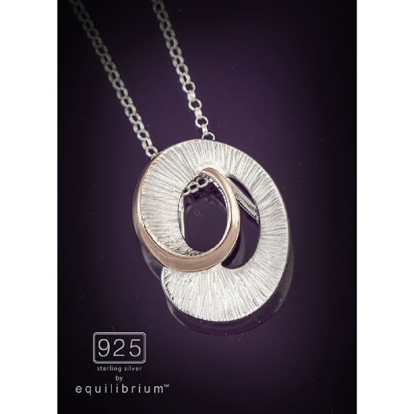 Sterling Silver Two Tone Twist Necklace