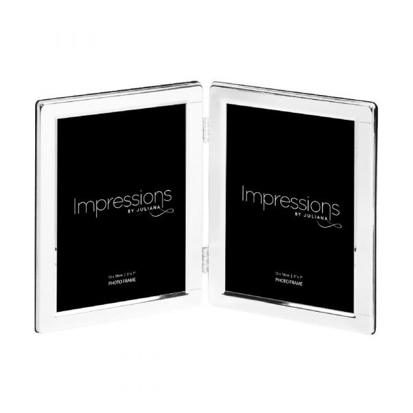 Impressions Silverplated Double Photo Frame - 5