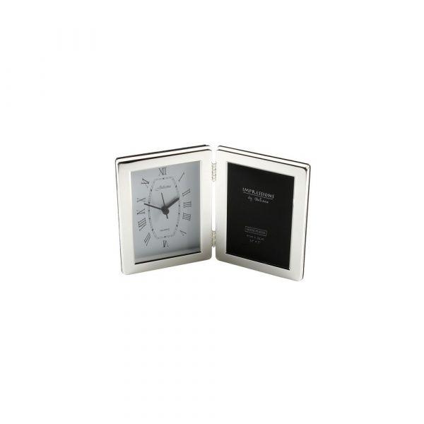 Silver Plated Clock Plain Frame 3