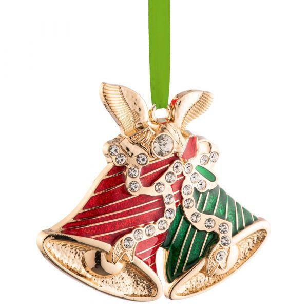 Belleek Living  Barnardo's Christmas Bells Enamel Ornament