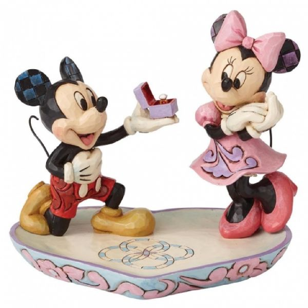 Disney A Magical Moment (Mickey Proposing to Minnie Mouse Figurine)