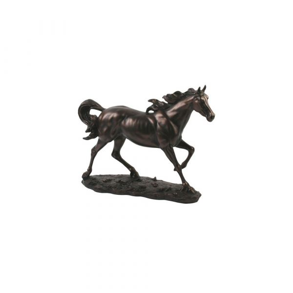 Juliana Bronze Figurine Galloping Horse - Bronze Finish