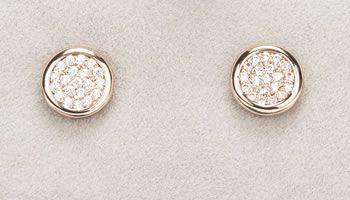 Newgrange Jewellery Rose Gold Diamante Round Earrings
