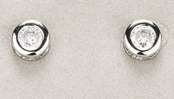 Newgrange Jewellery Small Silver White Stone Earrings