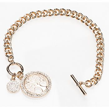 Newgrange Jewellery Rose Gold Tree of Life Toggle Bracelet