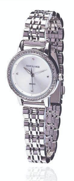 Silver Diamond Bezel Ladies Watch