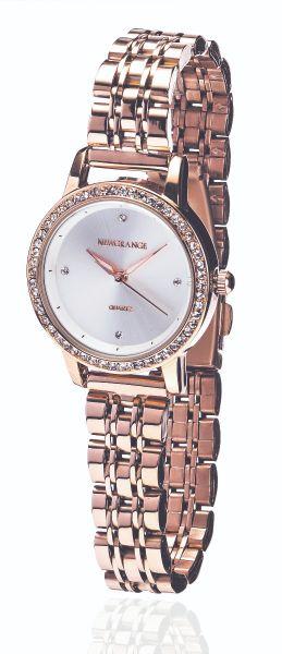 Rose Gold Diamond Bezel Ladies Watch