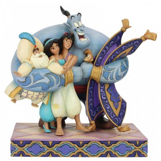 Jim Shore Group Hug! (Aladdin Figurine)