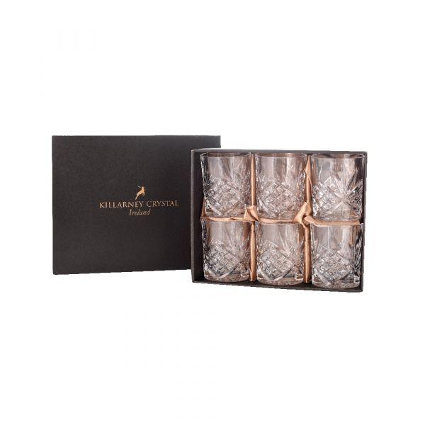 Killarney Crystal Trinity Whiskey Tumblers (Set of 6)