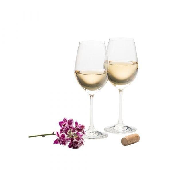 Galway Crystal Pair Wine Goblets 21cm