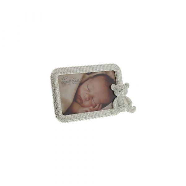 Bambino Silver Plated Photo Frame with Teddy
