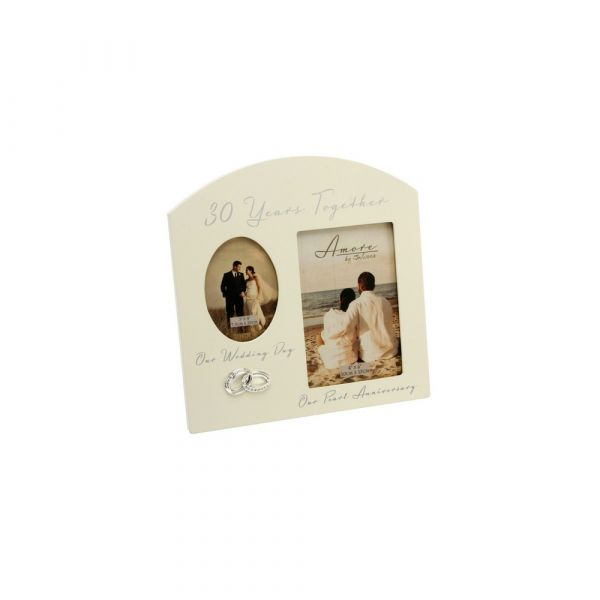 Amore Double Aperture Photo Frame - 30 Years Anniversary