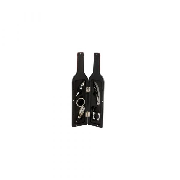 Harvey Makin Bar Set Large Wine Bottle Shape Corkscrew Set