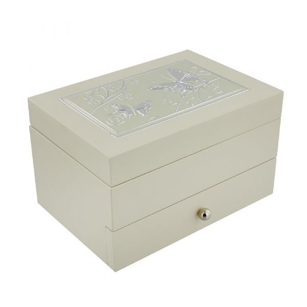 Sophia Cream Jewel Box & Butterfly