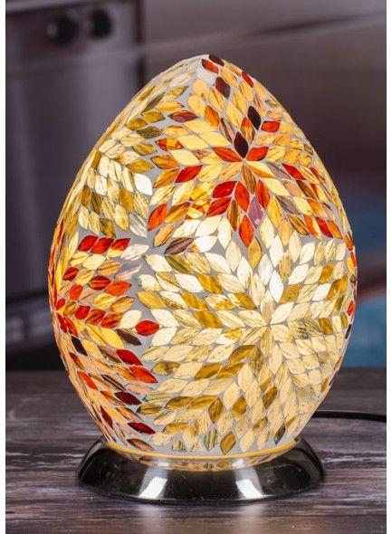 Elegance Mosaic Egg Lamp 26cm
