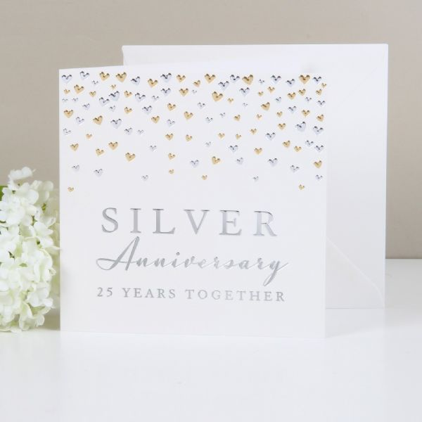 Greeting Cards Silver Anniversary 25 Years Together