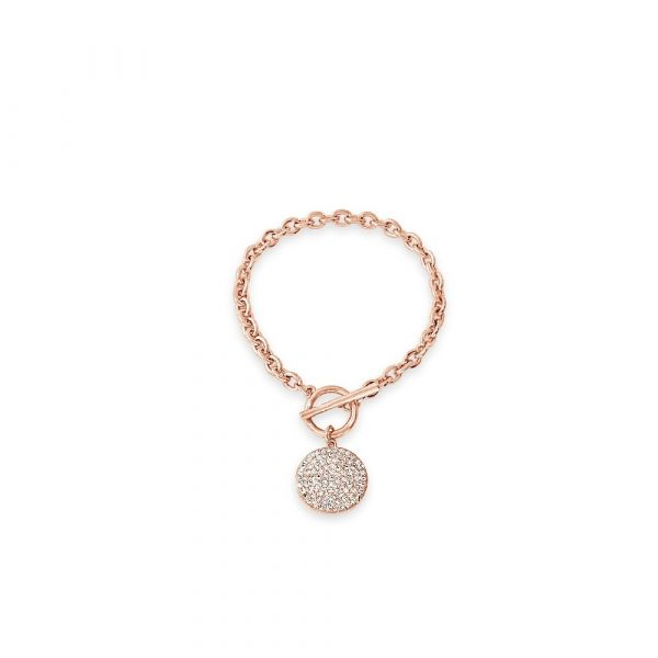 Absolute Jewellery Rose Gold Toggle Bracelet