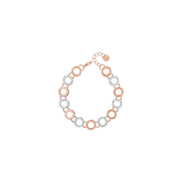Absolute Jewellery Two Tone Bracelet (Rose & Silver)