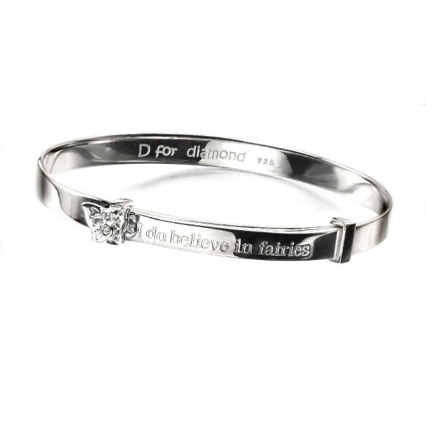 D For Diamond Believe In Faries Bangle