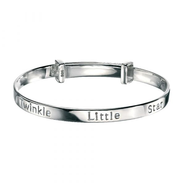 D For Diamond Twinkle Little Star Bangle