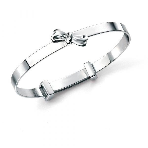 D For Diamond Diamond Bow Bangle